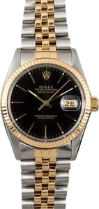 Datejust Rolex Black Dial 16013