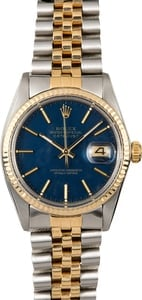 Datejust Rolex Blue 16013