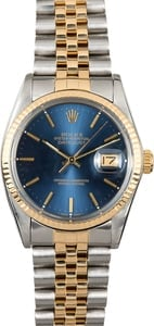 Datejust Rolex Blue Index 16013
