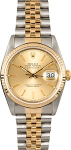 Datejust Rolex Two-Tone 16233 Jubilee