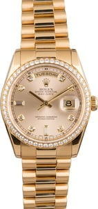 Pre Owned Rolex Men's President Gold Day-Date 118208