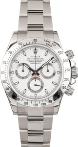 Used Daytona Rolex 116520 White Dial Stainless Steel