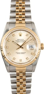 Diamond Rolex Datejust 16233