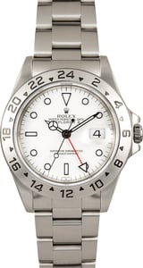 Explorer II Rolex 16570 White Dial Certified Pre-Owned