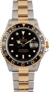 Pre Owned Rolex GMT-Master II Ref 16713 Two Tone Black Dial