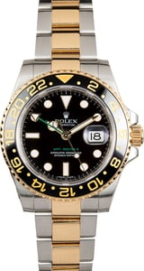 GMT Master II Rolex Two-Tone 116713 Black