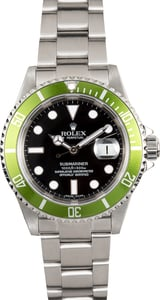 Green Rolex Submariner Anniversary 16610V