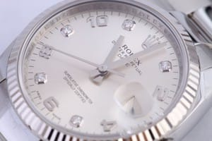 Men's Rolex Date Stainless Diamond Dial 115234