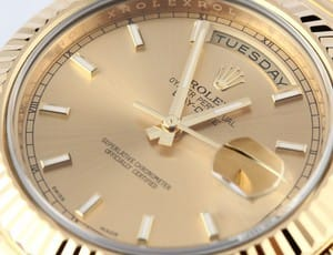 Lady Rolex Yellow Gold Cocktail Watch