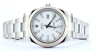 Mens Rolex DateJust II 116334 White Dial