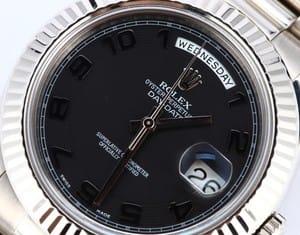 Rolex President Day Date II 218239 Black Dial