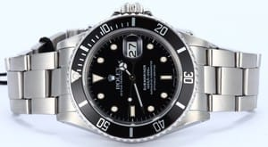 Mens Black Rolex Submariner 16800 Black Dial
