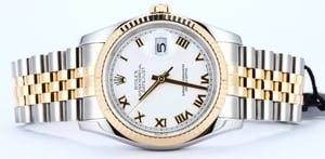 Rolex Stainless and 18k Gold DateJust 116233