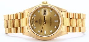 Rolex President Bark Finish
