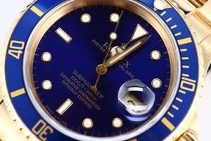 Used Rolex Submariner 18k Gold Model 16618
