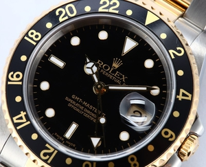 Used Men's Rolex GMT Master II Two Tone 16713