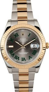Rolex Two-Tone Datejust II 116333 Slate Roman
