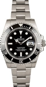 Men's Rolex Submariner 116610 Black Diver's Bezel