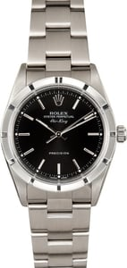 Rolex Air-King Stainless Steel Black Dial 14010M