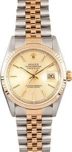 Men's Used Rolex DateJust Stainless and Gold 16233
