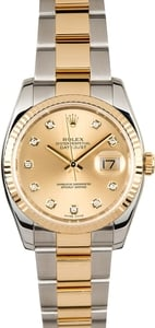 Rolex Datejust 116233 Champagne Diamond Dial