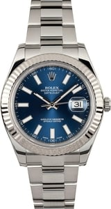 Used Rolex Datejust 116334 Blue Luminous Dial
