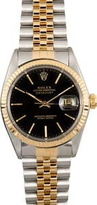 119780 Rolex Datejust Two Tone 16013 Black Dial