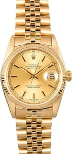 Rolex Datejust 16018 Yellow Gold