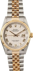 Two-Tone Datejust 16233 Ivory Pyramid Dial