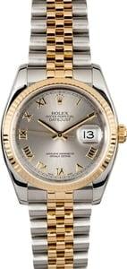 Rolex Datejust 116233 Silver Roman Dial