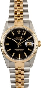 Rolex Datejust 16233 Black Index Dial