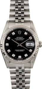 Rolex Datejust 16234 Black Diamond Dial