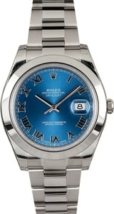 Rolex Datejust 116300 Blue Roman