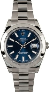 Rolex Datejust 116300 Blue Index