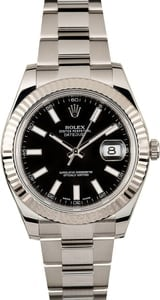 Rolex Datejust 116334 Black Luminous Dial