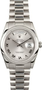 Men's Platinum Rolex Day-Date 118206