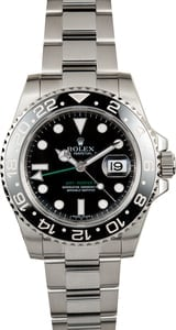 Pre-Owned Rolex GMT-Master II Ref. 116710 Black Dial