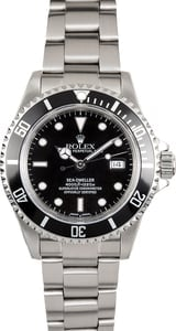 Mens Rolex Sea-Dweller 16600 Black Bezel 100% Genueine