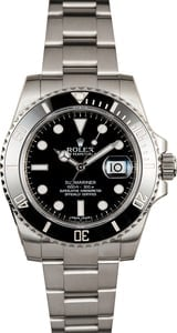 Men's Rolex Submariner 116610 Black Ceramic Bezel