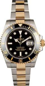 Used Rolex Submariner 116613 Black Diamond Dial