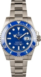 Rolex Submariner 116619 White Gold Ceramic Blue Bezel