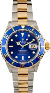 Rolex Submariner Blue 16613 Steel and Gold