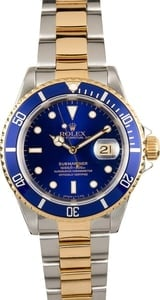 Rolex Submariner Two Tone 16613 Blue