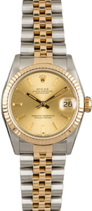 Mid-Size Rolex Datejust 68273 Champagne