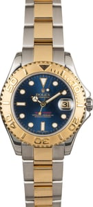 Mid-size Rolex Yacht-Master 168623 Blue Dial