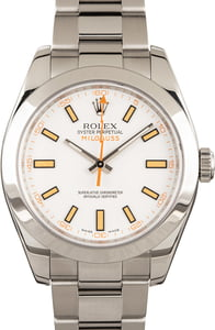 Milgauss Rolex 116400 White & Orange Dial