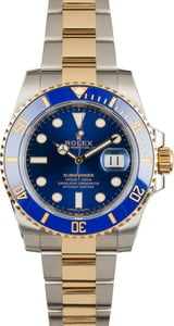 Used Rolex Submariner 116613LB Sunburst Blue Dial