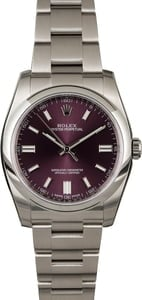 Rolex Oyster Perpetual 116000 Red Grape Dial