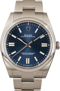 Blue Rolex Oyster Perpetual 124300
