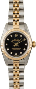 Used Rolex Oyster Perpetual 76193 Black Diamond Dial